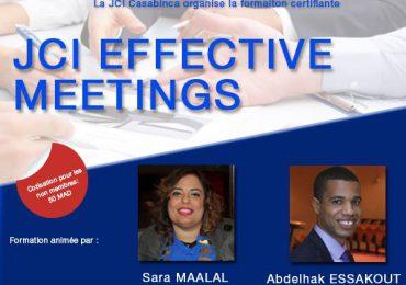 Formation Certifiante JCI Effective Meetings