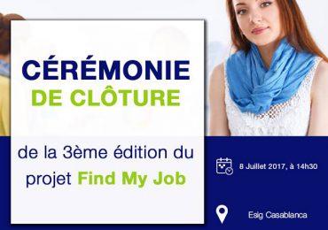 CÉRÉMONIE DE CLÔTURE DU PROJET FIND MY JOB – 3ème édition