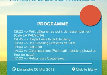 DAY OUT FOR JCI CASABLANCA MEMBERS